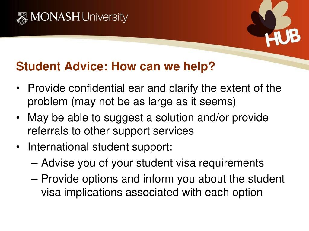 Student Advice: How can we help?