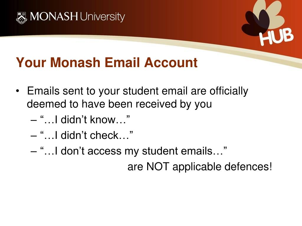 Your Monash Email Account