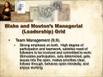 blake and mouton s managerial leadership grid12