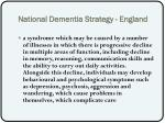 national dementia strategy england