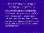 residents of public mental hospitals