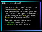 did man created god
