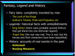 fantasy legend and history