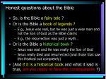 honest questions about the bible