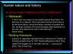 human nature and history