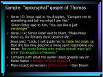 sample apocryphal gospel of thomas