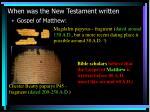 when was the new testament written