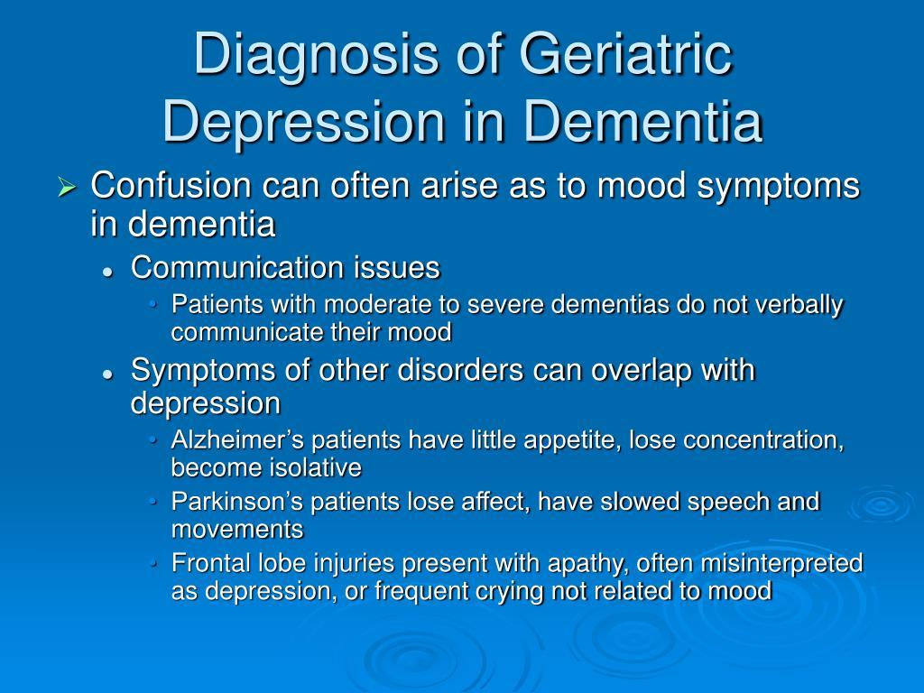 geriatric dementia