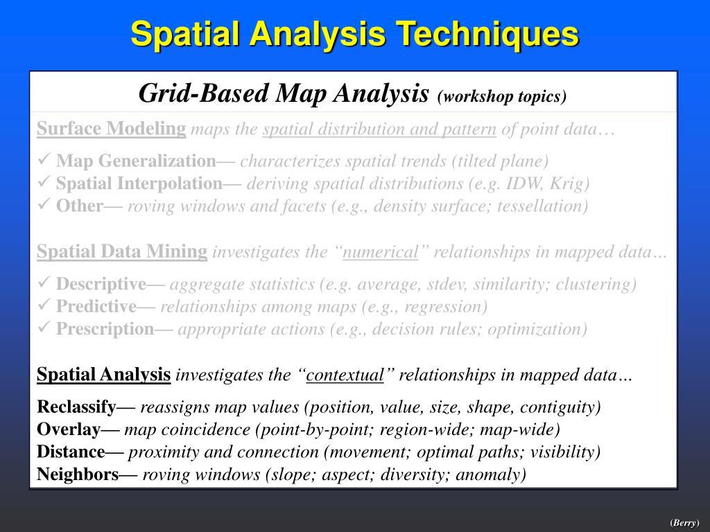 Grid-Based Map Analysis