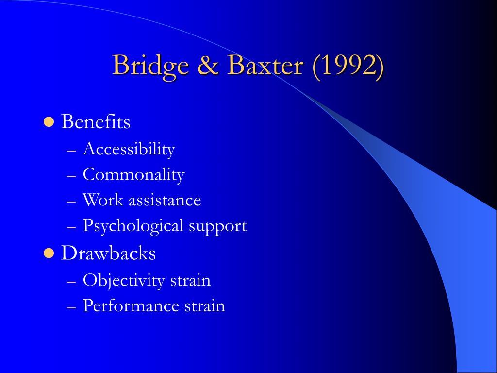 Bridge & Baxter (1992)