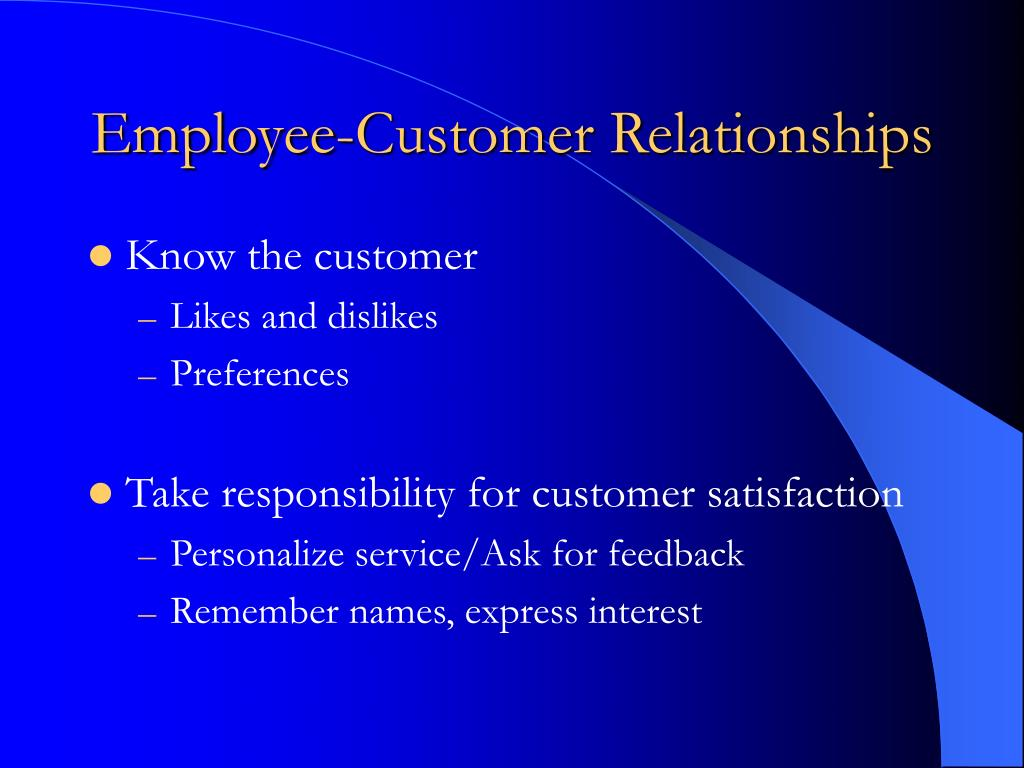 employee dating customer Employees are told to lie to customers terrible customer service tactics current employee - dating director in hallandale beach, fl current employee.