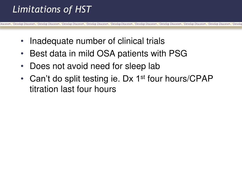 Limitations of HST