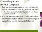 controlling access to your computer