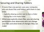 securing and sharing folders