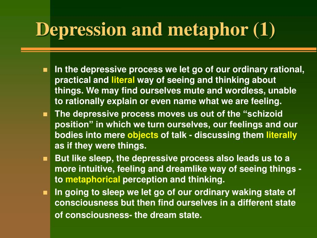 Depression and metaphor (1)