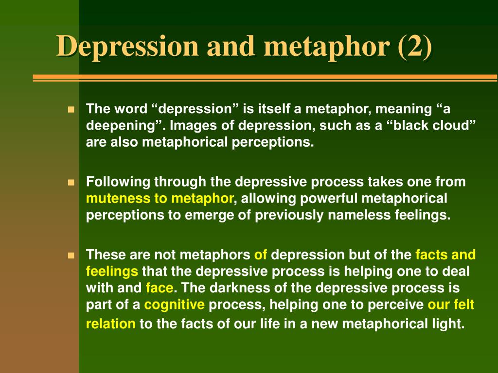 Depression and metaphor (2)