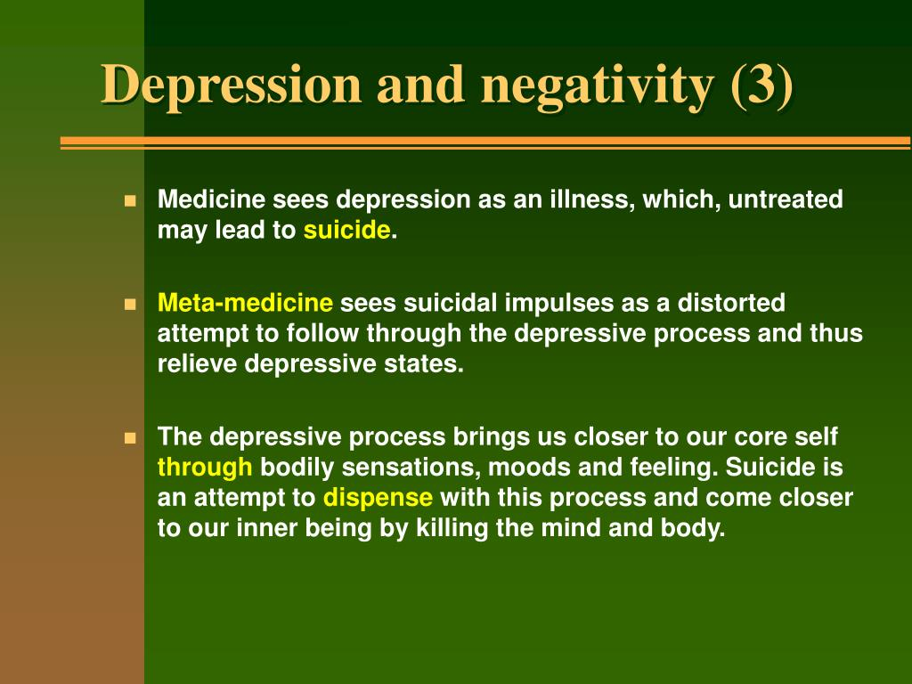 Depression and negativity (3)