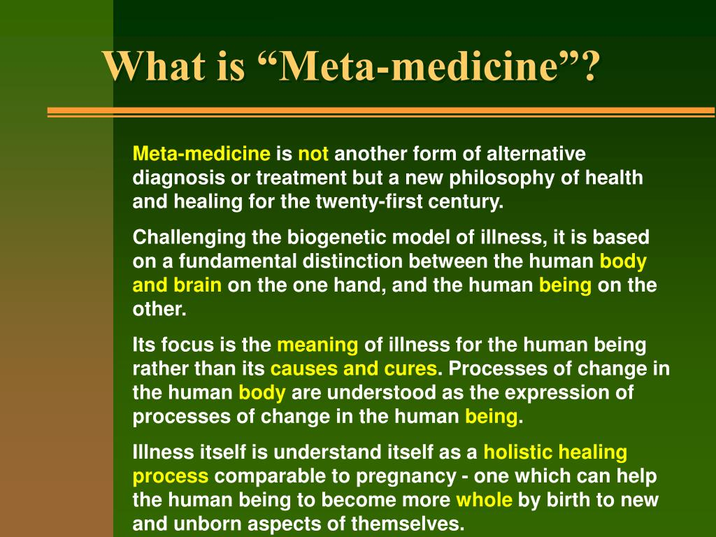 "What is ""Meta-medicine""?"