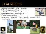 ldac results