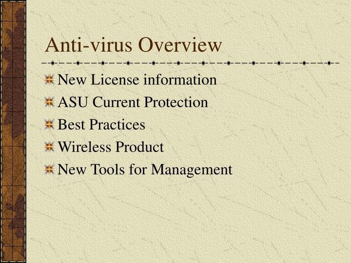 Anti virus overview