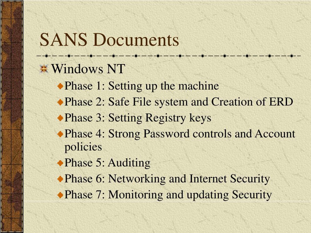SANS Documents