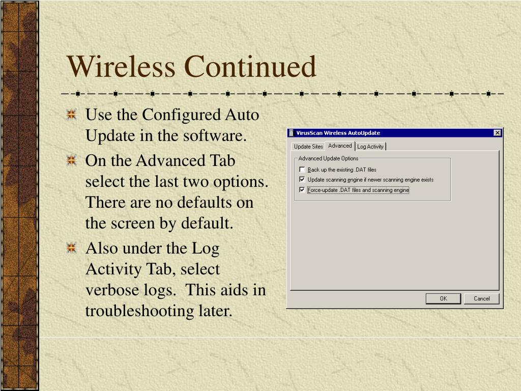 Wireless Continued