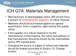 ich q7a materials management