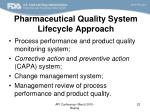 pharmaceutical quality system lifecycle approach