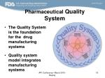 pharmaceutical quality system