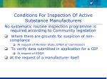 conditions for inspection of active substance manufacturers