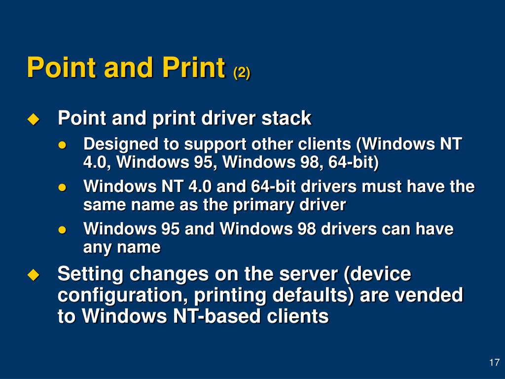 Point and Print