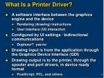 what is a printer driver
