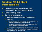 windows nt 4 0 client interoperability