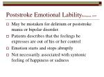 poststroke emotional lability robinson 1997