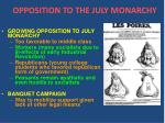 opposition to the july monarchy