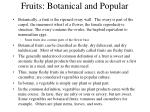 fruits botanical and popular