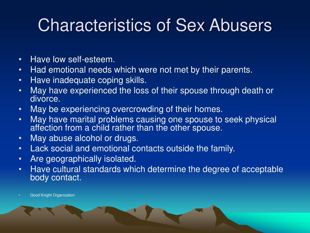 Characteristics of Sex Abusers