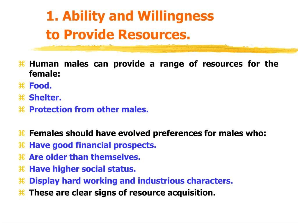 1. Ability and Willingness