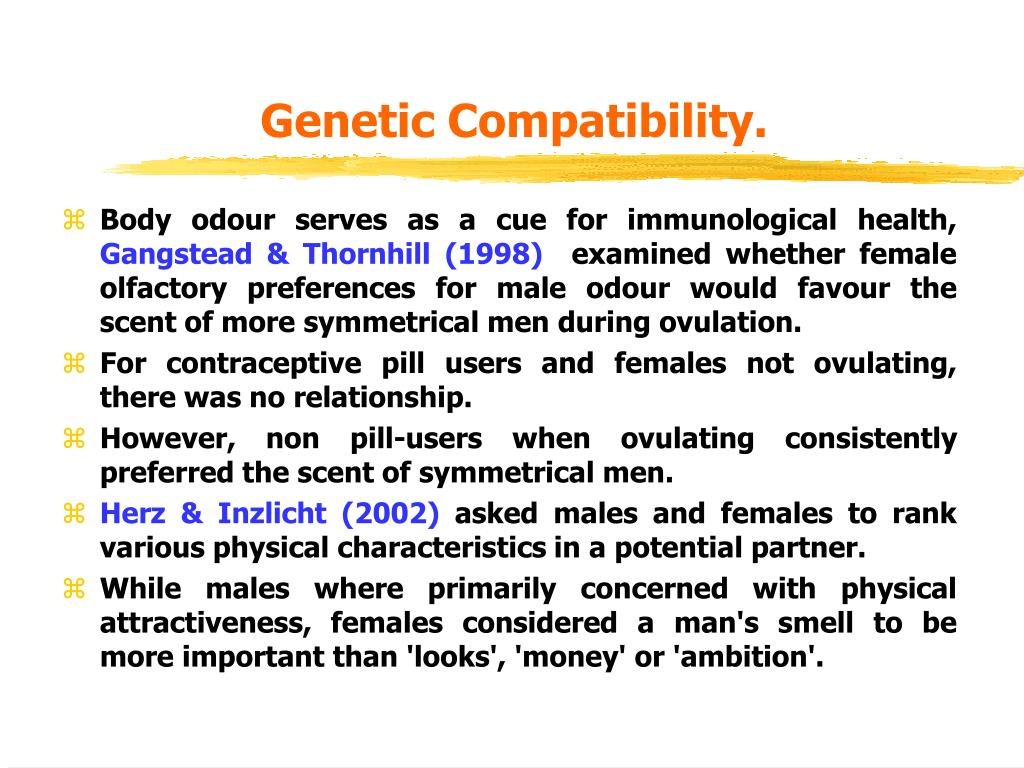 Genetic Compatibility.