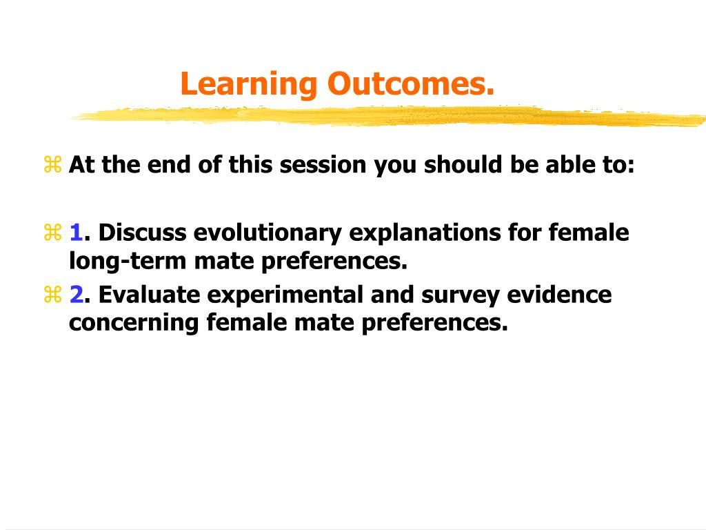 Learning Outcomes.