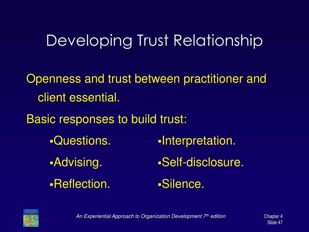 Developing Trust Relationship