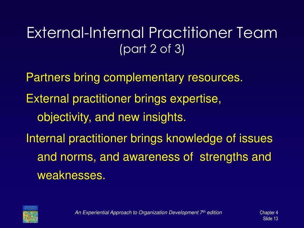 External-Internal Practitioner Team