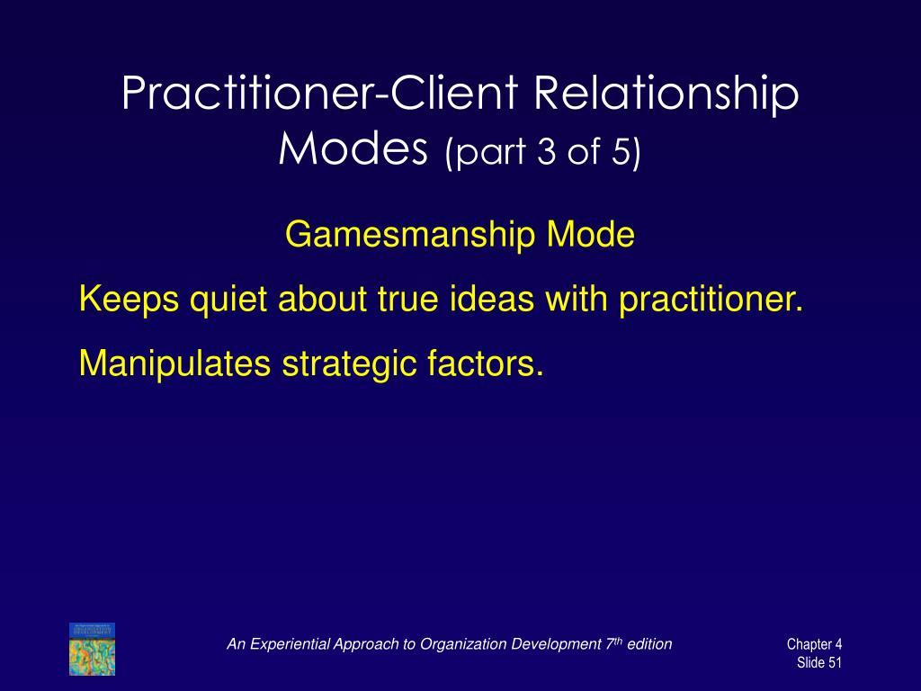 Practitioner-Client Relationship Modes
