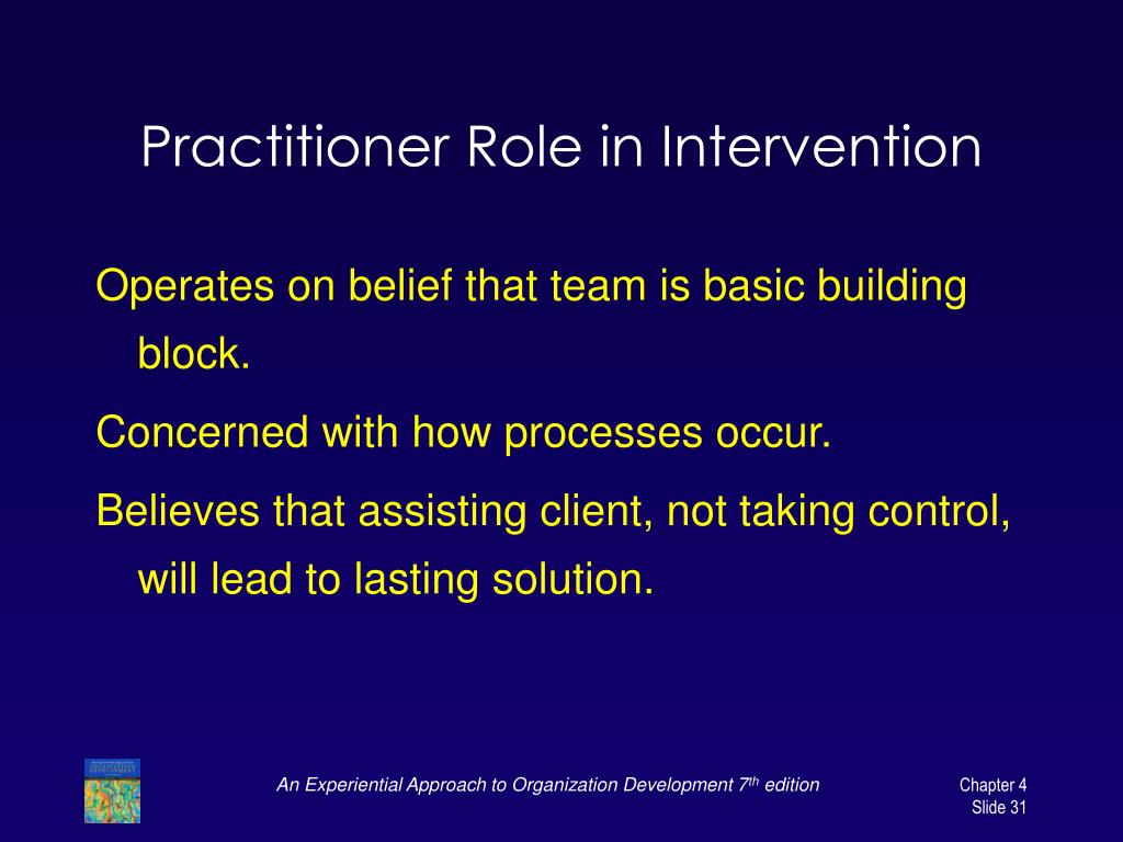 Practitioner Role in Intervention