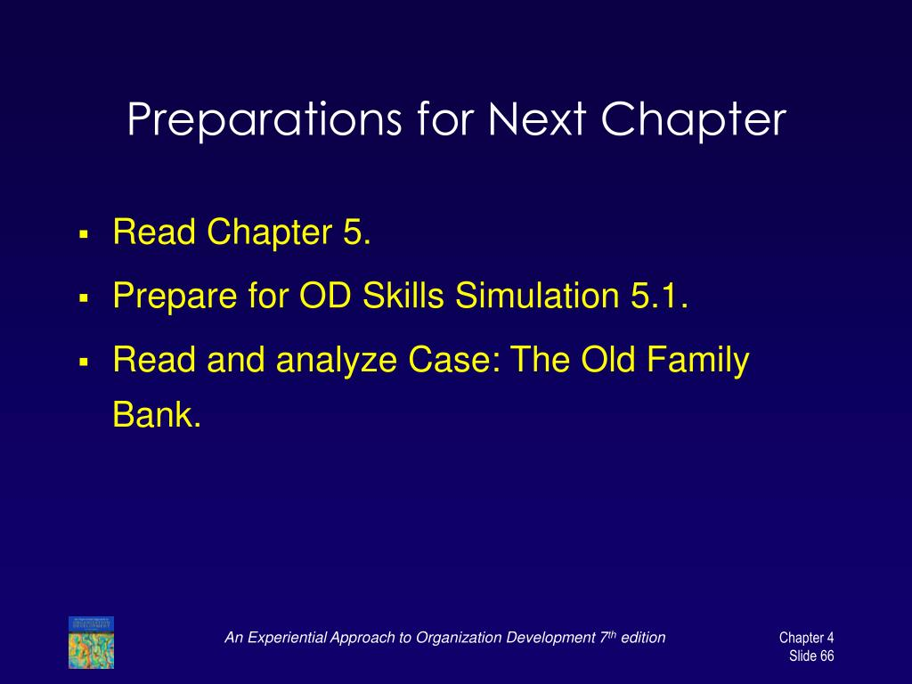 Preparations for Next Chapter