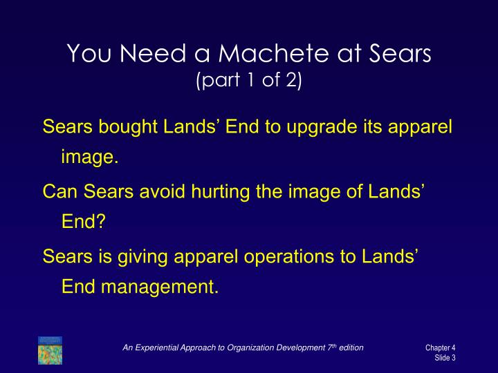You need a machete at sears part 1 of 2