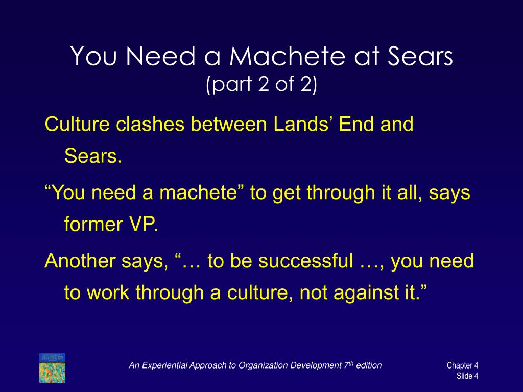 You Need a Machete at Sears