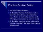 problem solution pattern