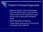 toulmin s practical arguments