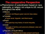 the comparative perspective